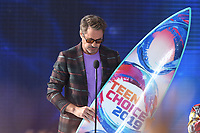 "Robert Downey Jr. onstage at FOX's ""Teen Choice 2019"" at the Hermosa Beach Pier Plaza on August 11, 2019 in Hermosa Beach, California. (Photo by Frank Micelotta/Fox/PictureGroup)"
