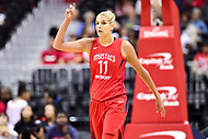 Washington, DC - August 12, 2018: Washington Mystics All-Star guard Elena Delle Donne (11) during game between the Washington Mystics and the Dallas Wings at the Capital One Arena in Washington, DC. (Photo by Phil Peters/Media Images International)