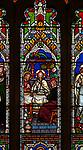 Victorian 19th century stained glass window, Badley church, Suffolk, England, UK by Frederick Preedy c 1866