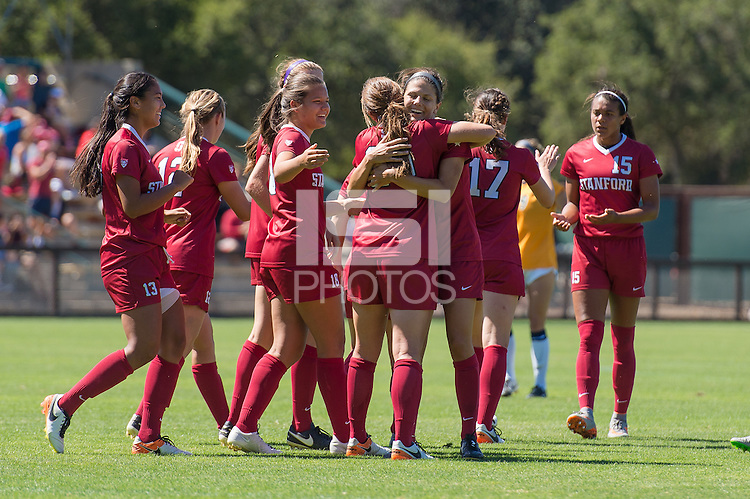 Stanford, CA - September 4, 2016:  Megan Turner Team during the Stanford vs Marquette Women's soccer match in Stanford, California.  The Cardinal defeated the Golden Eagles 3-0.