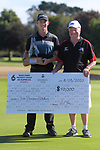 2020 champion Daniel Hillier with tournament sponsor Brian Green. Final day of the Jennian Homes Charles Tour / Brian Green Property Group New Zealand Super 6s at Manawatu Golf Club in Palmerston North, New Zealand on Sunday, 8 March 2020. Photo: Dave Lintott / lintottphoto.co.nz