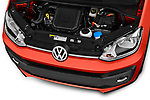 Car stock 2018 Volkswagen Up Cross Up 5 Door Hatchback engine high angle detail view