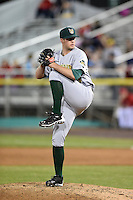 Lynchburg Hillcats pitcher Zach Jadofsky (40) delivers a pitch during a game against the Potomac Nationals on April 26, 2014 at Pfitzner Stadium in Woodbridge, Virginia.  Potomac defeated Lynchburg 6-2.  (Mike Janes/Four Seam Images)