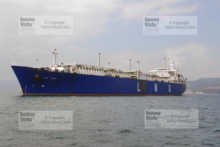 - gas-tanker ship in La Spezia harbour....- nave gasiera nel porto di La Spezia