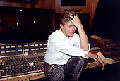 David Bowie - Atlantic Recording Studios in New York City for the recording of the soundtrack of the movie 'Labyrinth' with Arif Mardin as the producer - December 1985.  Photo credit: Cache Agency/Dalle/IconicPix