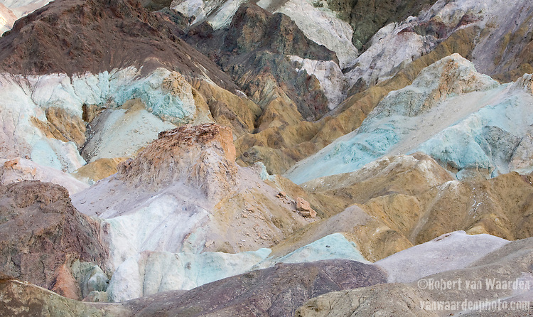 The incredible colors of the Artists Palette in Death Valley National Park, Nevada, United States of America.