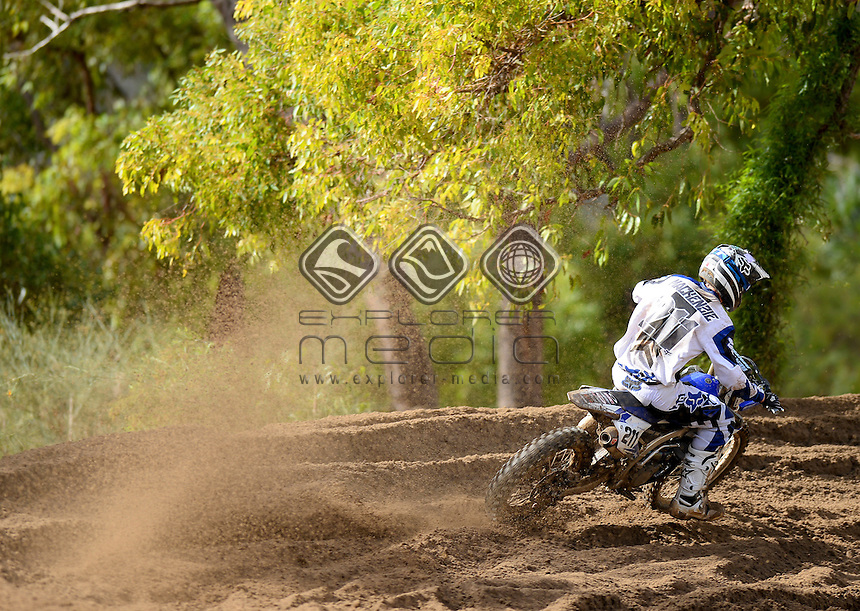 Billy MacKenzie / CDR Yamaha 1st Overall<br /> MXN Round 5 - Wanneroo / MX1<br /> 2014 Monster Energy MX Nationals<br /> Australian Motocross Championship<br /> Wanneroo WA 25th May 2014<br /> &copy; Sport the library / Jeff Crow