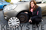 Local resident Josephine Bradley, owner of the car that was damaged by a pothole near Ballyseede Graveyard on Monday morning