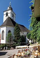 Austria, Upper Austria, Salzkammergut, St. Wolfgang at Lake Wolfgang: pilgrimage church St. Wolfgang