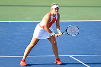 Washington, DC - August 3, 2019: Catherine McNally (USA) waits on the serve in the WTA Woman's Doubles Championship at Rock Creek Tennis Center, in Washington D.C. (Photo by Philip Peters/Media Images International)