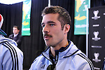 06 December 2013: Kansas City's Benny Feilhaber. Major League Soccer held media availability for both teams at Sporting Park in Kansas City, Kansas one day before Sporting Kansas City played Real Salt Lake in MLS Cup 2013.