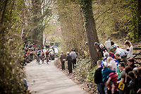 the breakaway group cheered on<br /> <br /> 103rd Ronde van Vlaanderen 2019<br /> One day race from Antwerp to Oudenaarde (BEL/270km)<br /> <br /> ©kramon