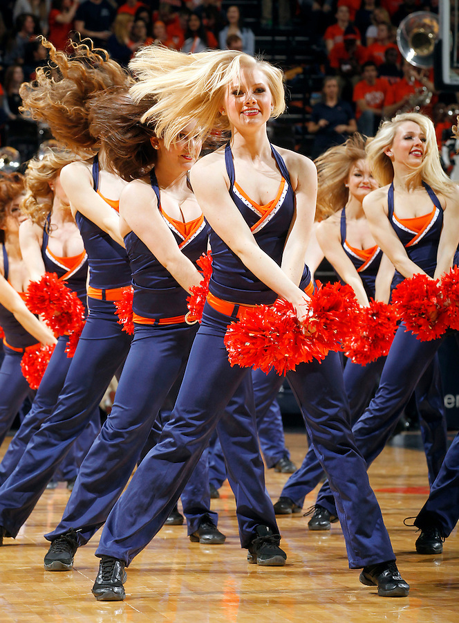 Virginia  dance team performs during an NCAA basketball game Saturday Feb, 24, 2014 in Charlottesville, VA. Virginia defeated Miami 65-40.