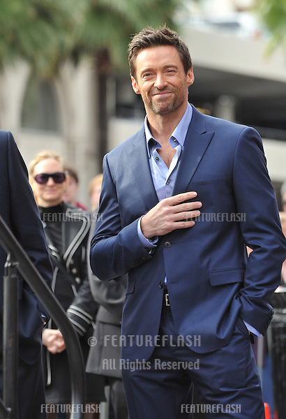 Hugh Jackman is honored with the 2,487th star on the Hollywood Walk of Fame..December 13, 2012  Los Angeles, CA.Picture: Paul Smith / Featureflash