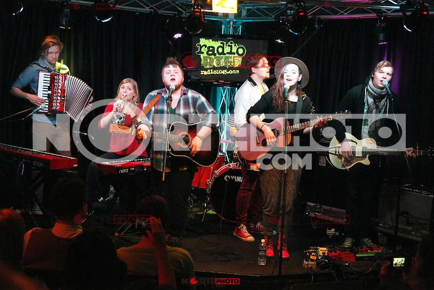 De monstruos y hombres representados en Radio 104.5 's Theater iHeart Radio Perfeormance en Bala Cynwyd, PA el 3 de abril de 2012.<br /> Foto:&copy;&copy;*Sta*Shooter/MediaPunchInc*/Nortephoto.com