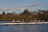 007 OBX / OBU Oxford Brookes. Wallingford Head of the River. Sunday 27 November 2011. 4250 metres upstream on the Thames from Moulsford railway bridge to Oxford Universitiy's Fleming Boathouse in Wallingford. Event run by Wallingford Rowing Club..