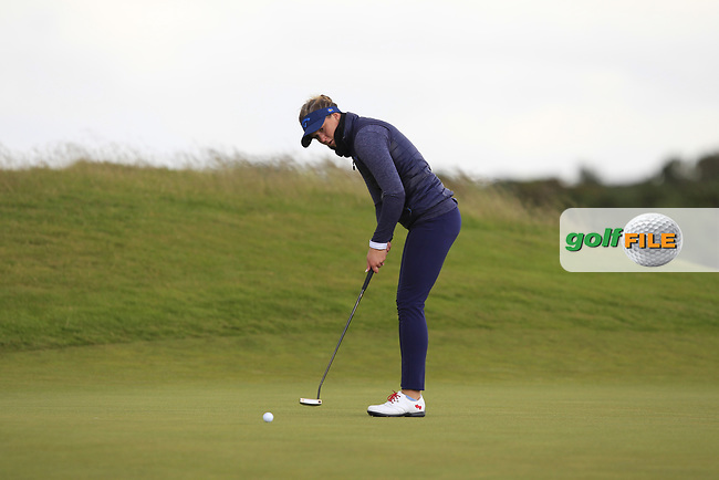 Linn Grant (SWE) on the 7th green during Round 3 Matchplay of the Women's Amateur Championship at Royal County Down Golf Club in Newcastle Co. Down on Friday 14th June 2019.<br /> Picture:  Thos Caffrey / www.golffile.ie