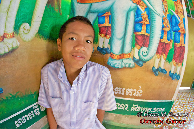 Young Boy At Phnom Sampeau Pagoda