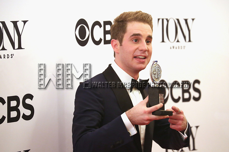 NEW YORK, NY - JUNE 11:  Ben Platt  poses with award at the 71st Annual Tony Awards, in the press room at Radio City Music Hall on June 11, 2017 in New York City.  (Photo by Walter McBride/WireImage)