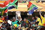 11 JUN 2010: Mexico fans in the stands of the Soccer City Stadium, pregame. The South Africa National Team played the Mexico National Team at Soccer City Stadium in Johannesburg, South Africa in the opening match of the 2010 FIFA World Cup.