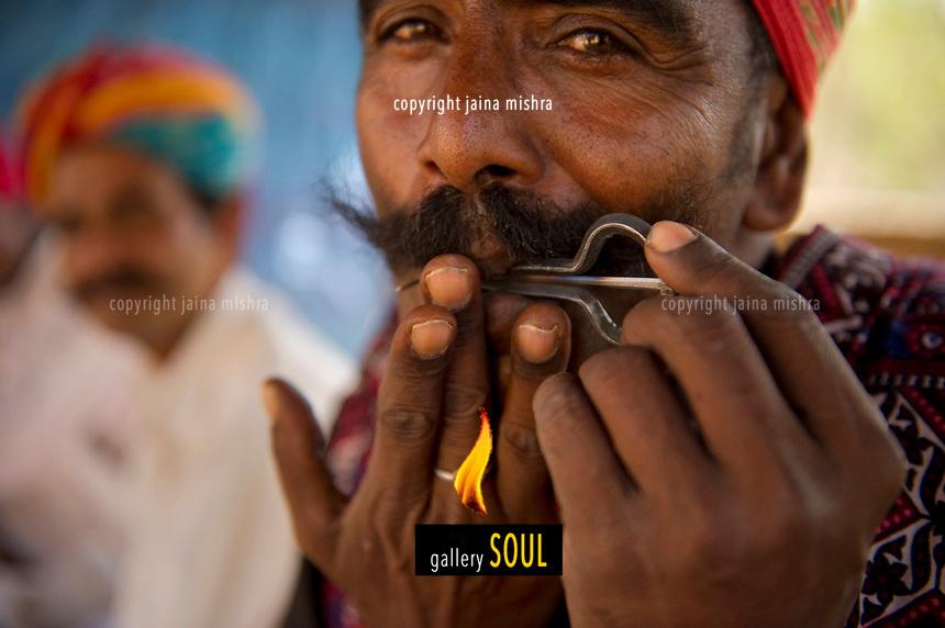 Managaniyar - a musician community perforuming at a village near Udaipur, India.