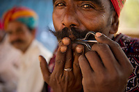 Managaniyar - a musician community perforuming at a village near Udaipur, India.