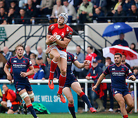 8 December 2016: London Welsh cancelled their B&I Cup match for Saturday 10th December and confirmed on 7th December 2016 that they are to seek voluntary liquidation.  Image shows Ben West of London Welsh claiming a high ball during the Greene King IPA Championship Exiles match between London Scottish Football Club and London Welsh RFC at Richmond Athletic Ground, Richmond, United Kingdom on 10 September 2016. Photo by Carlton Myrie / PRiME Media Images.