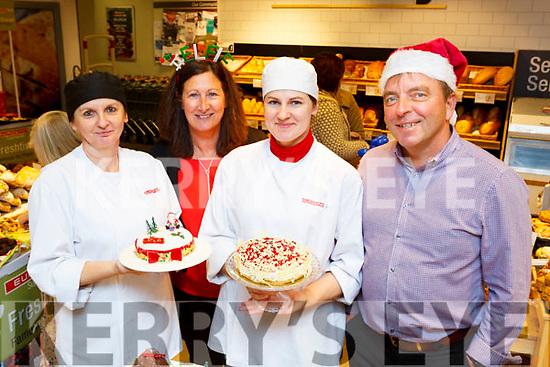 Ausra Zajanckauskiene, Michelle Jones, Diana Liniene and Brian Jones with some of the delicious deserts  at the Jones Eurospar Christmas Food Fair in Killorglin on Saturday i