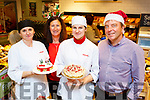 Ausra Zajanckauskiene, Michelle Jones, Diana Liniene and Brian Jones with some of the delicious deserts  at the Jones Eurospar Christmas Food Fair in Killorglin on Saturday i