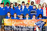 Pupils from Anne O'Sullivan's sixth class in CBS Clounalour, Tralee who graduated from primary school on Friday.