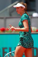 Elise Mertens, Belgium, during Madrid Open Tennis 2018 match. May 8, 2018.(ALTERPHOTOS/Acero) /NortePhoto.com
