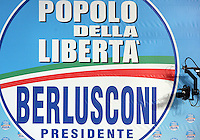 Manifestazione del Popolo della Liberta' a Roma, 28 marzo 2008..Electoral rally of the People of Freedom in Rome, 28 march 2008..UPDATE IMAGES PRESS/Riccardo De Luca
