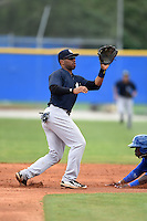 New York Yankees Angelo Gumbs (90) during a minor league spring training game against the Toronto Blue Jays on March 24, 2015 at the Englebert Complex in Dunedin, Florida.  (Mike Janes/Four Seam Images)