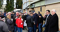 Former Lincoln City player Matt Carmichael during a question and answer session with Trevor Swinburne<br /> <br /> Photographer Chris Vaughan/CameraSport<br /> <br /> The EFL Sky Bet League Two - Lincoln City v Chesterfield - Saturday 7th October 2017 - Sincil Bank - Lincoln<br /> <br /> World Copyright &copy; 2017 CameraSport. All rights reserved. 43 Linden Ave. Countesthorpe. Leicester. England. LE8 5PG - Tel: +44 (0) 116 277 4147 - admin@camerasport.com - www.camerasport.com