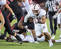 San Diego, Ca. - September 16, 2017: The Stanford Cardinal Football team vs the San Diego State Aztecs in San Diego Stadium. Final score Stanford  17, San Diego State 20.