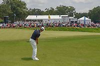 Martin Kaymer (GER) hits a bump and runner on 11 that hits the pin during 4th round of the 100th PGA Championship at Bellerive Country Club, St. Louis, Missouri. 8/12/2018.<br /> Picture: Golffile   Ken Murray<br /> <br /> All photo usage must carry mandatory copyright credit (© Golffile   Ken Murray)