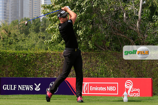Henrik Stenson (SWE) on the 2nd tee during Round 2 of the Omega Dubai Desert Classic, Emirates Golf Club, Dubai,  United Arab Emirates. 25/01/2019<br /> Picture: Golffile | Thos Caffrey<br /> <br /> <br /> All photo usage must carry mandatory copyright credit (© Golffile | Thos Caffrey)