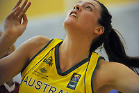 Action from the 2013 FIBA Oceania Pacific Championship women's semifinal match between Australia and Tahiti at Te Rauparaha Arena, Porirua, Wellington, New Zealand on Tuesday, 3 December 2013. Photo: Dave Lintott / lintottphoto.co.nz
