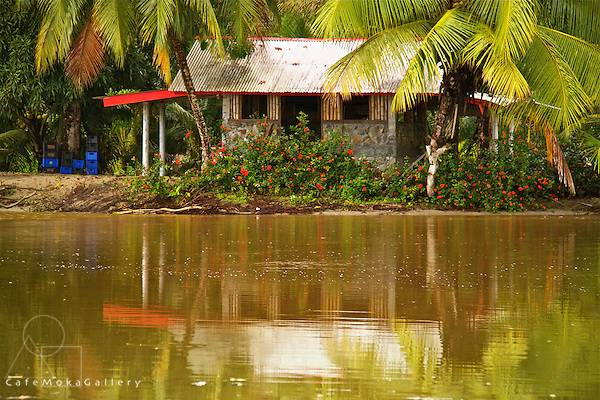 Small house by the river at Grande Riviere