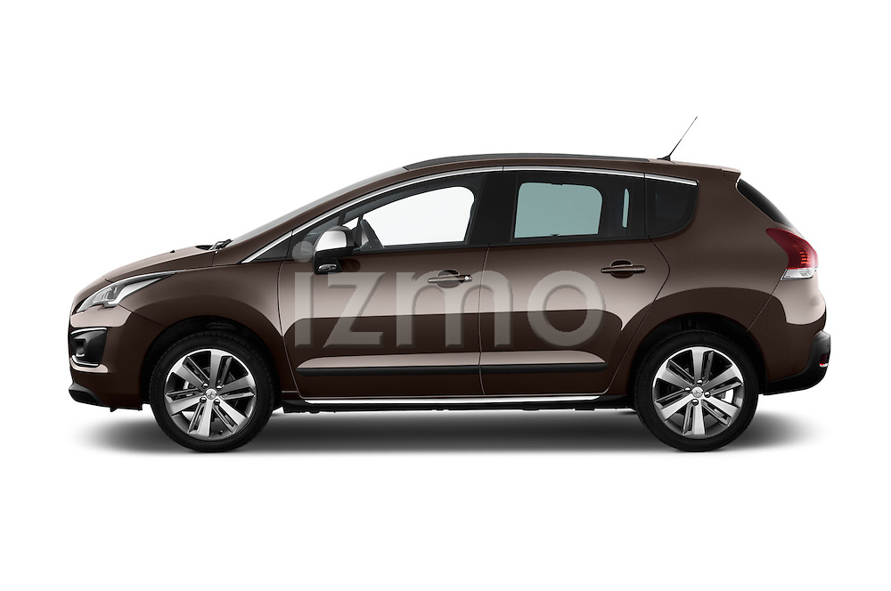 Driver side profile view of a 2014 Peugeot 3008 5 Door SUV 2WD