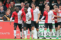 Regan Charles-Cook of Woking is congratulated after scoring the opening goal during Woking vs Dagenham & Redbridge, Vanarama National League Football at The Laithwaite Community Stadium on 7th October 2017