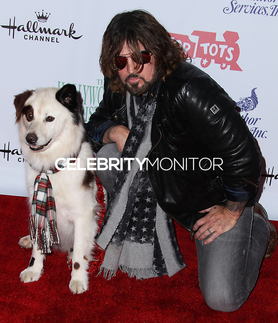 HOLLYWOOD, CA - DECEMBER 01: Mick, Dog With A Blog, Billy Ray Cyrus arriving at the 82nd Annual Hollywood Christmas Parade held at Hollywood Boulevard on December 1, 2013 in Hollywood, California. (Photo by Xavier Collin/Celebrity Monitor)