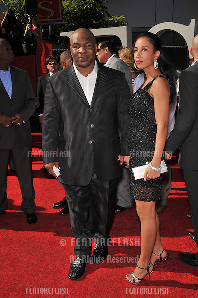 Mike Tyson & new wife Lakiha Spicer at the 2009 ESPY Awards at the Nokia L.A. Live Theatre, Los Angeles..July 15, 2009  Los Angeles, CA.Picture: Paul Smith / Featureflash