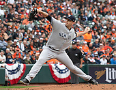 New York Yankees starting pitcher James Paxton (65) works in the first inning against the Baltimore Orioles at Oriole Park at Camden Yards in Baltimore, MD on April 4, 2019.<br /> Credit: Ron Sachs / CNP<br /> (RESTRICTION: NO New York or New Jersey Newspapers or newspapers within a 75 mile radius of New York City)