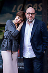 "Micaela Ramazzotti and Paolo Virzi attends the presentation of ""Locas de Alegria"" at Princesa Cinema in Madrid, Spain. March 10, 2017. (ALTERPHOTOS / Rodrigo Jimenez)"