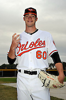 Feb 27, 2010; Tampa, FL, USA; Baltimore Orioles  pitcher Brandon Erbe (60) during  photoday at Ed Smith Stadium. Mandatory Credit: Tomasso De Rosa/ Four Seam Images