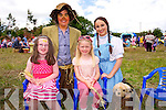Caoimhe O'Leary, and Danielle Cronin, with Scarecrow and Dorothy  at the Enchanted Fairy Festival in Kilflynn on Sunday
