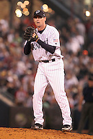 Charlotte Knights pitcher Jeff Farnsworth during the Triple-A All-Star Game at Fifth Third Field on July 12, 2006 in Toledo, Ohio.  (Mike Janes/Four Seam Images)
