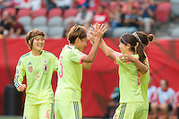June 12, 2015: Aya SAMESHIMA of Japan celebrates her goal during a Group C match at the FIFA Women's World Cup Canada 2015 between Cameroon and Japan at BC Place Stadium on 12 June 2015 in Vancouver, Canada. Japan won 2-1. Sydney Low/AsteriskImages
