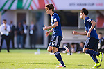 Osako Yuya of Japan (L) celebrates scoring the goal during the AFC Asian Cup UAE 2019 Group F match between Japan (JPN) and Turkmenistan (TKM) at Al Nahyan Stadium on 09 January 2019 in Abu Dhabi, United Arab Emirates. Photo by Marcio Rodrigo Machado / Power Sport Images
